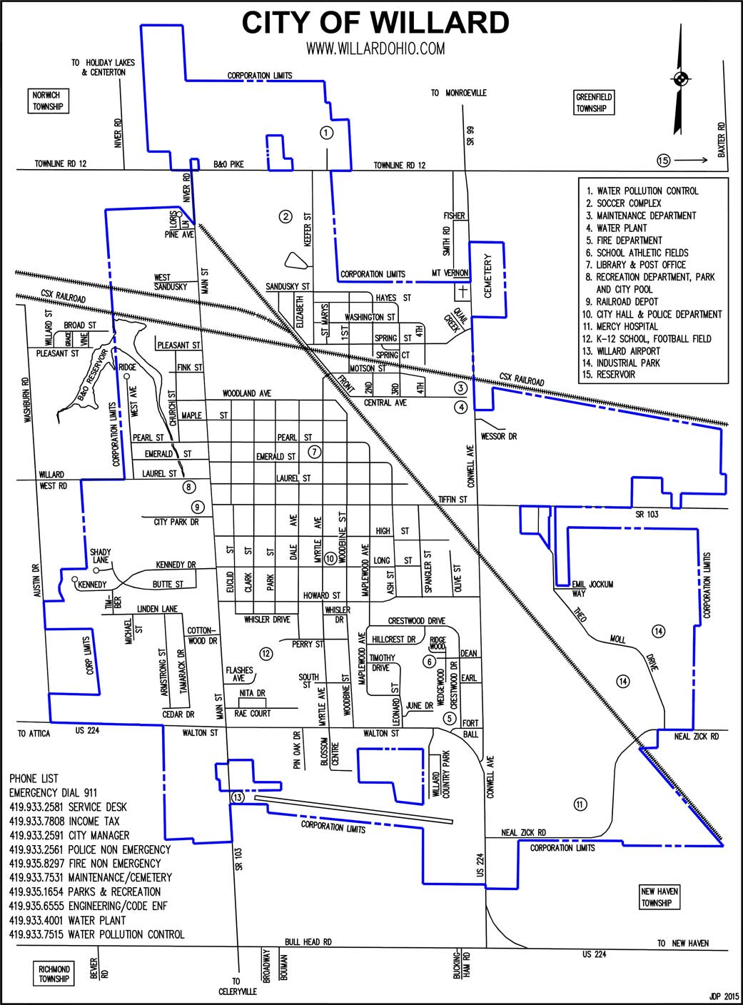 Maps – Willard Area Chamber of Commerce
